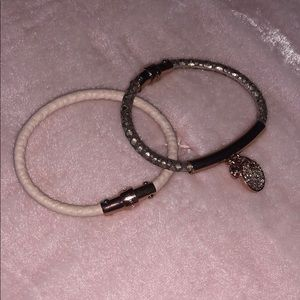 Two Henri Bendel Leather Bracelets